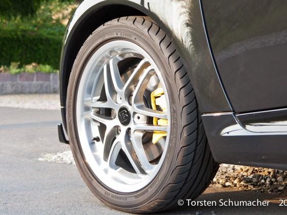 Bremssättel in Porsche Speedgelb